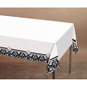 Damask Plastic Tablecover - Ever After 137x274cm Pk 1AC