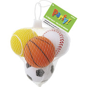 Foam Sports Balls Party Favours Pk 4