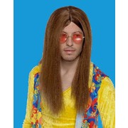 Party Wig - Hippie Guy (Brown) Pk1