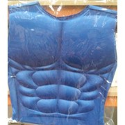 Adult Blue Hero Muscle Vest Costume Pk 1
