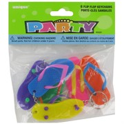 Party Favours - Flip Flop Keyrings Pk 6