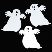 Cutout Mini Ghost Halloween Pk10