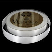 Ribbon Poly Satin 15mm x 25m White Pk1
