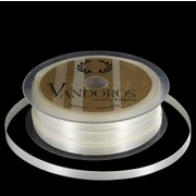 Ribbon Poly Satin 6mm x 50m Ivory Pk1