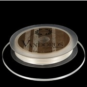 Ribbon Poly Satin 3mm x 50m Ivory Pk1