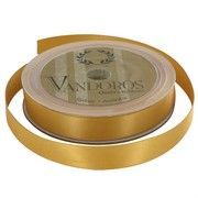Ribbon Poly Satin 15mm x 25m Antique Gold Pk1