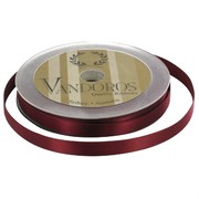 Ribbon Poly Satin 10mm x 25m Burgundy Pk1
