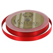 Ribbon Poly Satin 10mm x 25m Spice Red Pk1