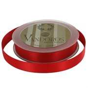 Ribbon Poly Satin 15mm x 25m Spice Red Pk1