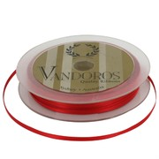 Ribbon Poly Satin 3mm x 50m Spice Red Pk1