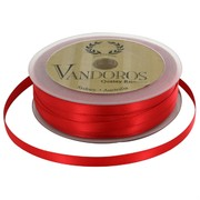 Ribbon Poly Satin 6mm x 50m Spice Red Pk1