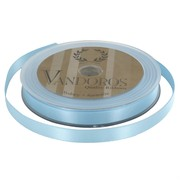 Ribbon Poly Satin 10mm x 25m Baby Blue Pk1