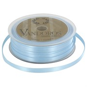 Ribbon Poly Satin 6mm x 50m Baby Blue Pk1