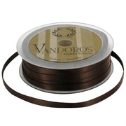 Ribbon Poly Satin 6mm x 50m Brown Pk1