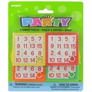 Party Favours - Number Puzzles Pk 4