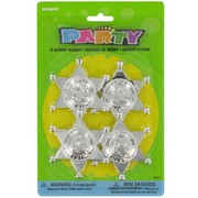 Party Favours - Sheriff Badges Pk 4