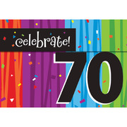 Milestone Celebrations 70 Invitations & Envelopes Pk 8