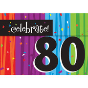 Milestone Celebrations 80 Invitations & Envelopes Pk 8