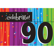 Milestone Celebrations 90 Invitations & Envelopes Pk 8