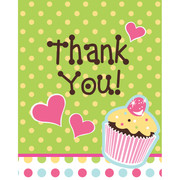 Sweet Treats Thank You Cards & Envelopes Pk 8