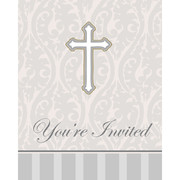 Christening Invitations & Envelopes (Devotion) Pk 8