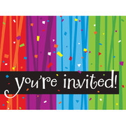 Milestone Celebrations Invitations & Envelopes Pk 8