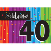 Milestone Celebrations 40 Invitations & Envelopes Pk 8