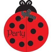 Ladybug Party Invitations & Envelopes - Ladybug Fancy Pk 8