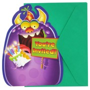 Monster Party Invitations - Monster Mania Pk8