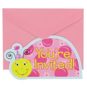 Ladybug Party Invitations & Envelopes - Li'l Lady Pk 8