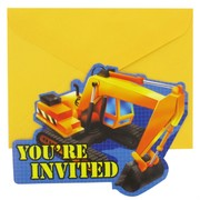 Under Construction Party Invitations Pk8
