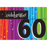 Milestone Celebrations 60 Invitations & Envelopes Pk 8