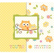 Owl Party Invitations & Envelopes - Happi Tree Pk8