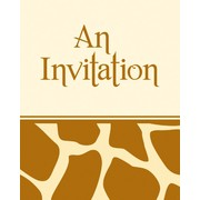 Invitations & Envelopes Giraffe Print Pk8