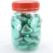 Ice Green Chocolate Hearts 500g (approx 60 hearts in jar)
