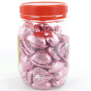 Ice Pink Chocolate Hearts 500g (approx 60 hearts in jar)