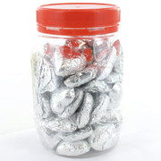 Silver Chocolate Hearts 500g (approx 50 hearts in jar)