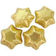 Gold Foil Chocolate Stars 500g (approx 50 pieces)