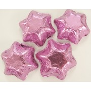 Light Pink Foil Chocolate Stars 500g (approx 60 pieces)