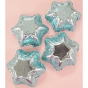 Light Blue Foil Chocolate Stars 500g (approx 60 pieces)