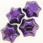 Purple Foil Chocolate Stars 500g (approx 60 pieces)