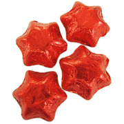 Red Foil Chocolate Stars 500g (approx 60 pieces)