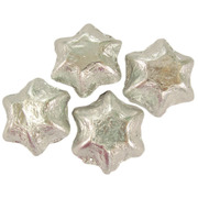 Silver Foil Chocolate Stars 500g (approx 60 pieces)