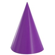 Purple Party Hats Pk8