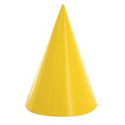 Yellow Party Hats Pk8
