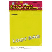 Loot Bags Yellow Unique Fashion Pk8