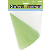Lime Green Party Hats Pk 8