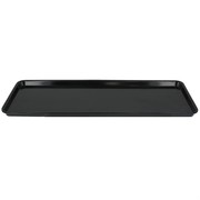 Platter Rectangular Melamine Black 390x150mm Pk1