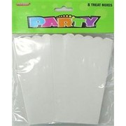 White Cardboard Party Treat Boxes Pk 8