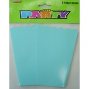 Baby Blue Cardboard Party Treat Boxes Pk 8